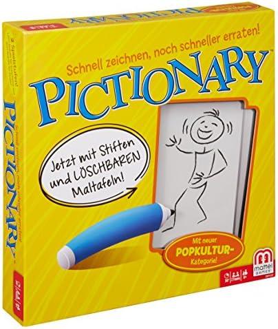 Mattel Games Pictionary Juego de Mesa de Palabras - Juego de ...