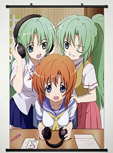 Amazon Com Wall Scroll Poster Fabric Painting For Anime Higurashi No Naku Koro Ni Shiion Mion Ryuuguu Reina 008 S Posters Prints