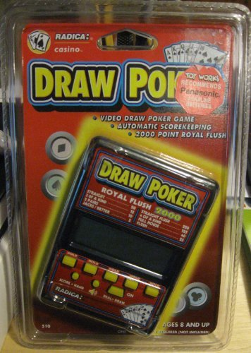 Casino Electronic Draw Poker (RADICA - DRAW POKER ROYAL FLUSH 2000 ELECTRONIC HANDHELD GAME (1994))
