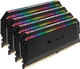 CORSAIR Dominator Platinum RGB 64GB (4x16GB) DDR4 3600 (PC4-28800) C18 1.35V Desktop Memory - Black