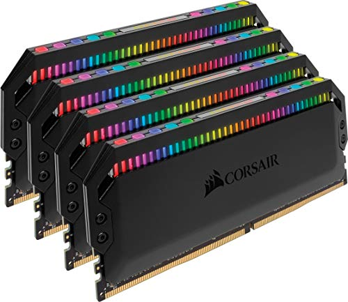 Corsair Dominator Platinum RGB 32GB (4x8GB) DDR4 3200 (PC4-25600) C16 1.35V, Optimized for AMD DDR4 Systems