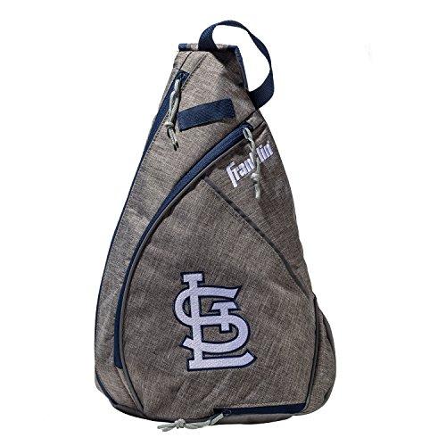 Franklin Sports St. Louis Cardinals Slingback Baseball Crossbody Bag - Shoulder Bag w/Embroidered Logos - MLB Official Licensed ()