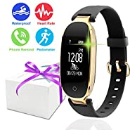 Symfury Fitness Tracker Sport Smart Watch for Women Men Kid IP67 Waterproof Bluetooth Heart Rate Monitor Pedometer GPS Activity Tracker Calorie Band for Swim Outdoor Mothers Day Gift Android iPhone