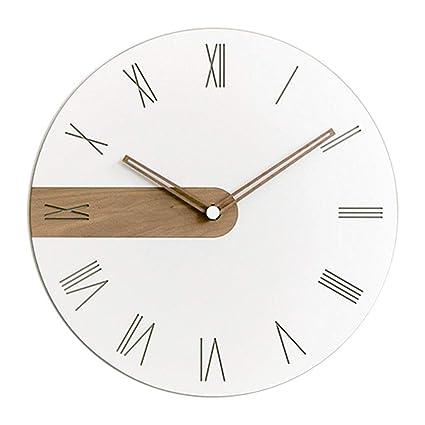 Modern Creative Wooden Roman Numeral Wall Clock