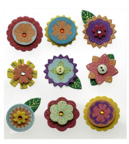 Embellishment Layered Flower - Jolee's Boutique Dimensional Embellishment, Layered Mini Flowers