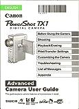 Canon PowerShot TX1 Digital Camera Advanced User Guide - Original Canon Manual