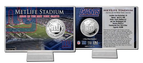 (NFL New York Giants Silver Coin Card )