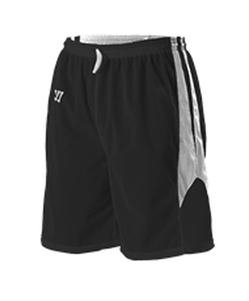 White L K254RY K254RY-BKWH-L Alleson Youth Warrior Fusion Reversible Game Short Black White