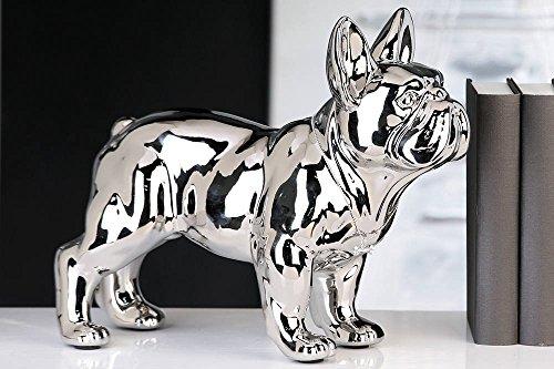 silver bulldog statue - 5