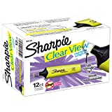 Sharpie Clear View Highlighter, Chisel Tip, 12 Pack