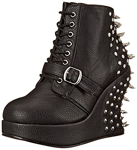 Demonia Women's BRA23/BPU Boot, Black Polyurethane, 8 M US - Demonia Gothic Boots