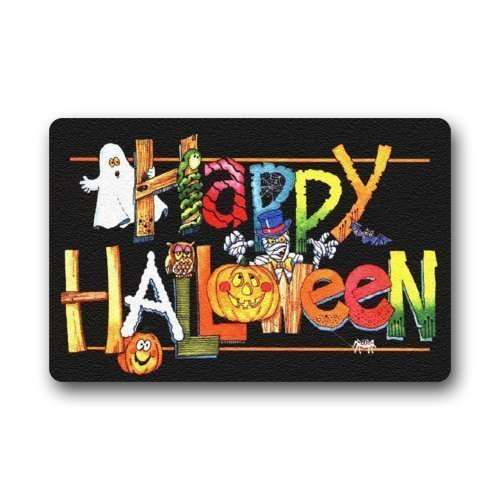 Shirley's Door Mats Custom Machine-washable Door Mat Halloween Indoor/Outdoor Doormat (Halloween Harvey)