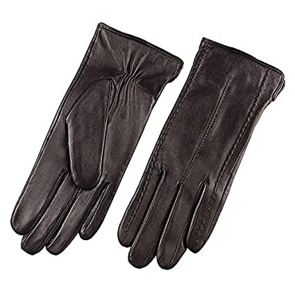 62415abf3 Amazon.com: Lannmart Elegant Women Genuine Lambskin Leather Gloves Autumn  and Winter Thermal Hot Trendy Female Glove L085: Kitchen & Dining