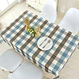 HOMEE Modern minimalist fabric waterproof household linen tablecloths table mats european rectangular table cloth Christmas decorations,A,150X150cm