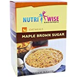 NutriWise - Maple Brown Oatmeal | Healthy Nutritious Diet | High Protein, Low Carb, Low Calorie, Sugar Free, Fat Free (7…