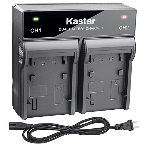 Kastar Fast Dual Charger for Sony NP-F970 NP-F975 NP-F960 NP-F950 NP-F930 NP-F770 NP-F750 NP-F730 NP-F570 NP-F550 NP-F530 NP-F330 and 308C TTV-204 Pad-22 LED Video Light or Moniter Backup Battery by Kastar