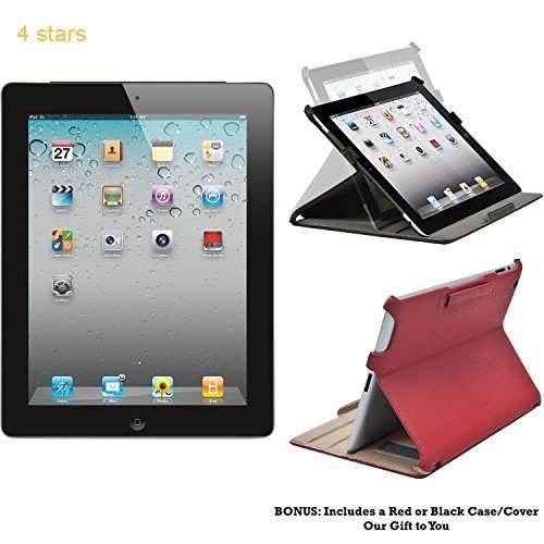 Apple iPad 2 MC769LL A - 16GB - 2nd Generation (Black) - Tablet with Skin (Refurbished)