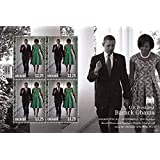 President Barack Obama and First Lady Michelle Obama - Grenada Collectible Postage Stamps 3971