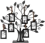 Moldura para foto, moldura moderna para fotos de família, árvore de exibição com molduras para pendurar decora