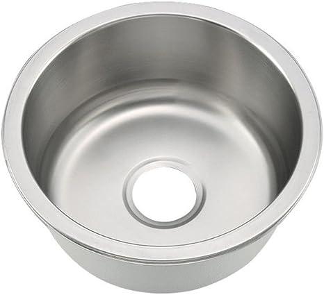 oukaning redonda de acero inoxidable fregadero fregadero cocina fregadero redondo fregadero fregadero Agua desag/üe