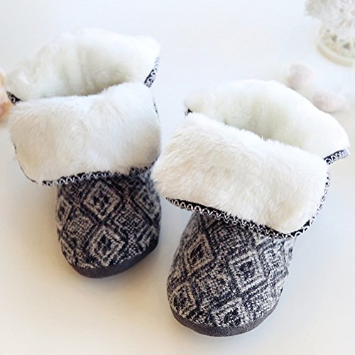 Shoes Top 3 Soft Boots Slipper House Sole Winter High Womens Fleece S6qzHH
