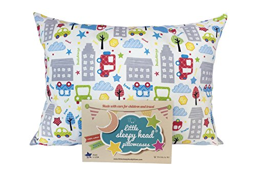 (Little Sleepy Head Toddler Pillowcase - Original Collection: Cars, 13 X 18)