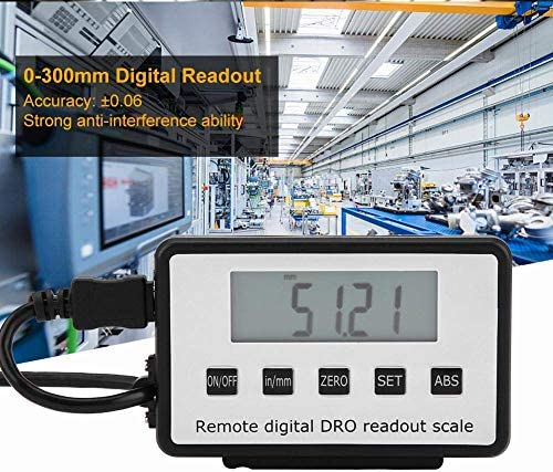 YASE-king Digital Readout Kit, 0-300mm Accurate Digital Linear Scale LCD Readout Kit for Milling Machines Lathes