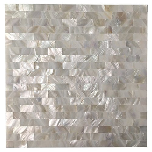 Art3d Peel and Stick Mother of Pearl Shell Mosaic Tile for Kitchen - Decorative Mirrors Bathroom Of Pearl Mother
