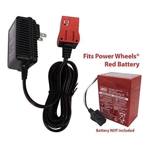 (SafeAMP 6-Volt Charger for Fisher-Price Power Wheels Red Battery)