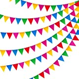 JUSLIN 300PCS Colorful Flag Pennants Multicolor Pennant Banner Nylon Cloth Banner for Party Celebrations and Shops