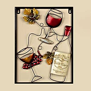 Rojo Vino Botella Garden & Home pared arte (40 cm x 30 cm)
