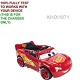 KHOI1971 WALL charger AC adapter for RED YELLOW-TRIM BLACK-SEAT 17347DTR 17347 Huffy Disney Pixar Cars 3 Lightning McQueen ride on