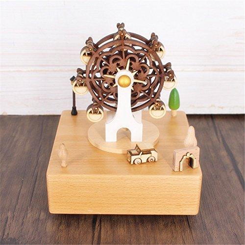 YuFLangel Cadeau d'anniversaire de la Saint-Valentin Boîte à musique en bois de boîte à musique de carrousel de musique