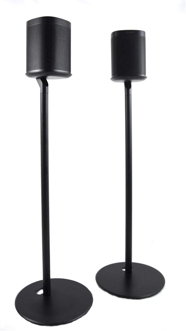 ynVISION Floor Stand for Sonos One, One SL and Play:1 Speaker | 2 Pack | YN-ONE Pair (Black)