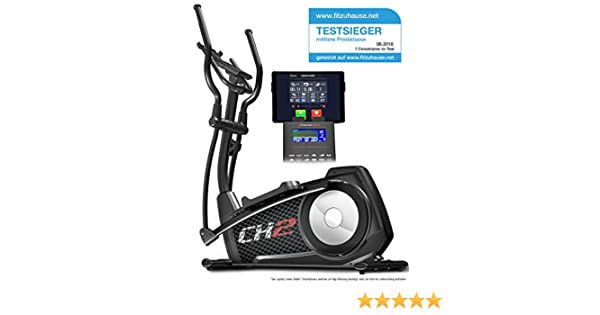 Sportstech CX620 - Bicicleta elíptica profesional con control de Smartphone + Google Street View inercia de 21 kg, HRC - Bluetooth - 32 niveles de ...