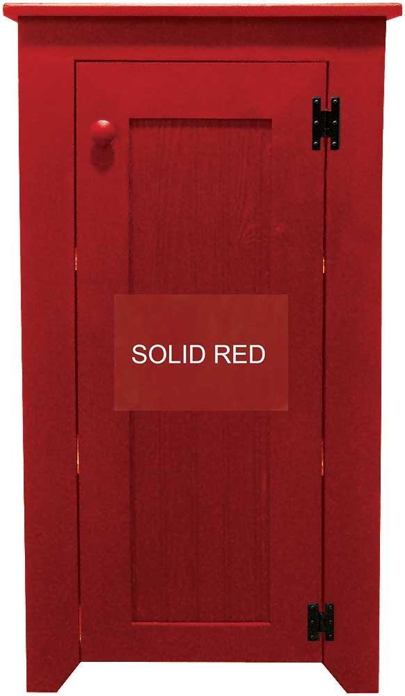 Pine Cabinet with Door andシェルフ 47.75x24 76az-sRED B01NH9LWQ4 レッド単色