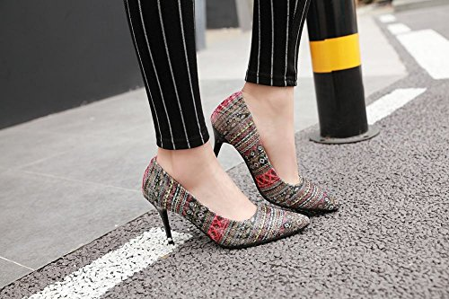 Shoes Pointed Printed Heels Red Toe Womens Style Indian Carolbar Pumps High zqXP5gwxxf