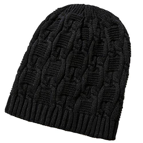 punto negro KeepSa sombreros de suave invierno caliente de lana Mens Womens de Brandnew Unisex Gorro 2017 gorros Gorro Beanie pTUqwW