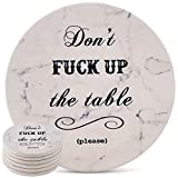 home decor ideas Coasters for Drinks | Absorbent Drink Coaster (6-Piece Set) | Housewarming Hostess Gifts for New Home, Man Cave House Warming Presents Decor, Wedding Registry, Living Room Decorations, Cool Gift Ideas