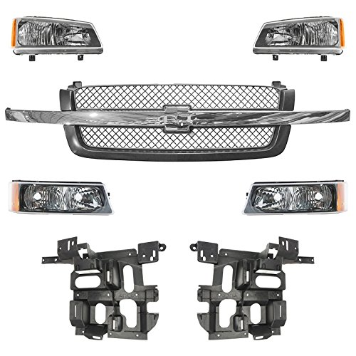 Grille Parking Light Headlight Mounting Panel Kit for 03-04 Avalanche Silverado