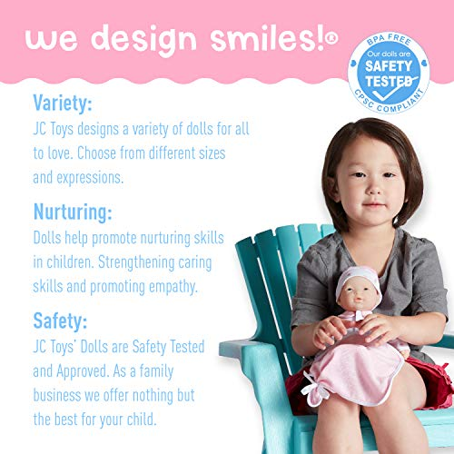 JC Toys La Baby- Asian (Colors May Vary), Pink, Purple, Or Blue