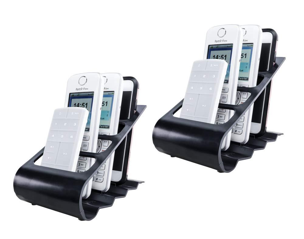 UPP Mando a Distancia & Smartphone Soporte Juego de 2 Negro ...