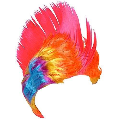 Rainbow Mohawk Wig Costume Accessory