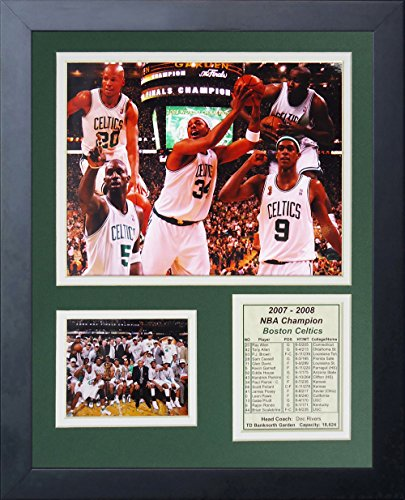 Legends Never Die 2008 Boston Celtics NBA Champions Collage Photo Frame, 11