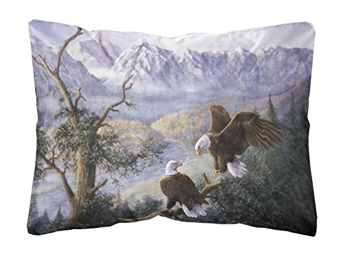 Caroline's Treasures BDBA0153PW1216 Eagles by Daphne Baxter Fabric Decorative Pillow, 12H x16W, Multicolor