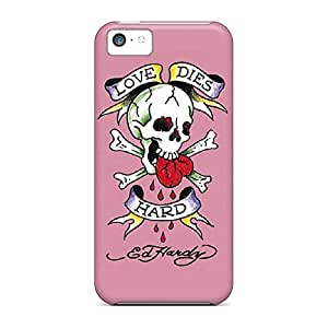 High-definition phone carrying skins Iphone Hard Cases With Fashion Design Hybrid iphone 4s - ed hardy 4