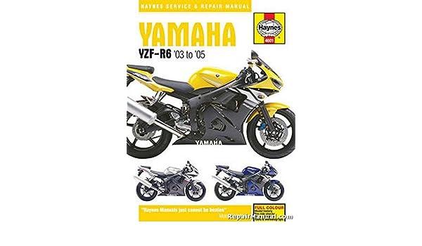 2005 yamaha r6 wiring diagram ignition h4601 haynes 2003 2005 yamaha yzf r6 motorcycle repair manual by  h4601 haynes 2003 2005 yamaha yzf r6