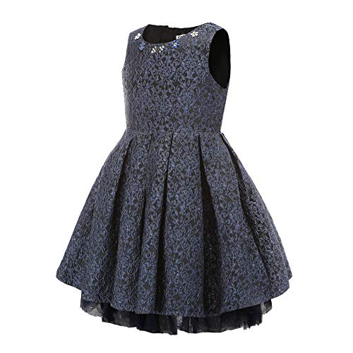 Baby Little Girls Flowers Floral Gorgeous Jacquard Princess Party Tutu Dress for Kids 3 4 5 6 8 10 Years Old