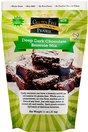 Gluten-Free Prairie Deep Dark Chocolate Brownie Mix 11 Ounce (Pack of 2) Certified Gluten-Free Purity Protocol, Whole Grain, Non-GMO, High in Protein, High in Fiber, and High in Vitamin B