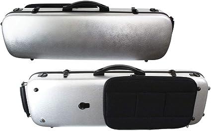 Young - Estuche para violín (policarbonato), color plateado: Amazon.es: Instrumentos musicales